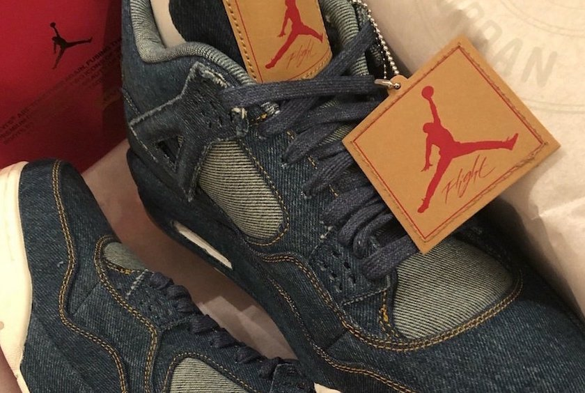 Levi's x Air Jordan 4 Comes with Matching Reversible Denim Jacket