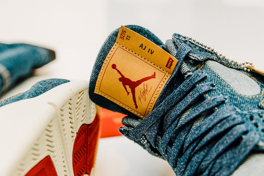 Levis Air Jordan 4 Reversible Trucker Jacket