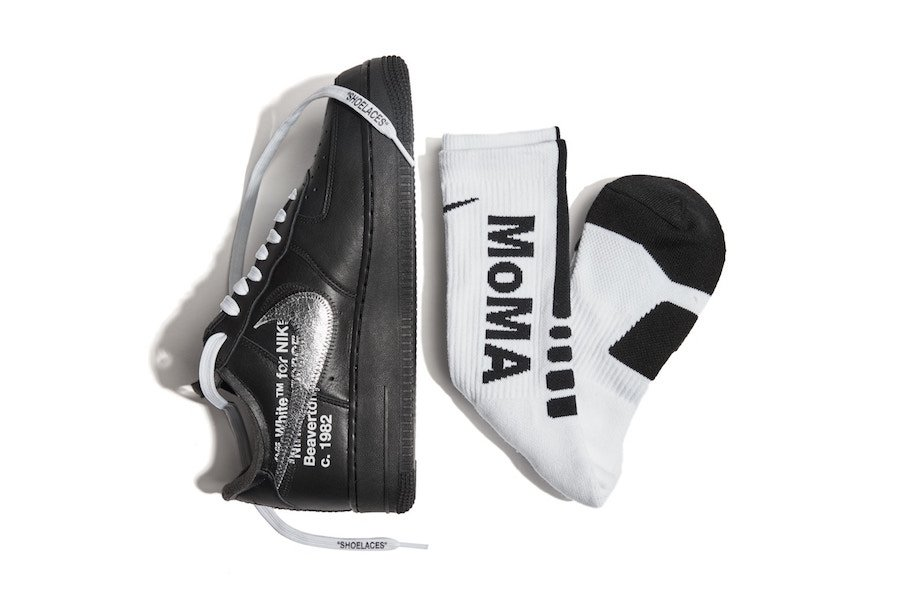 MoMA OFF-WHITE Nike Air Force 1 Black AV5210-001