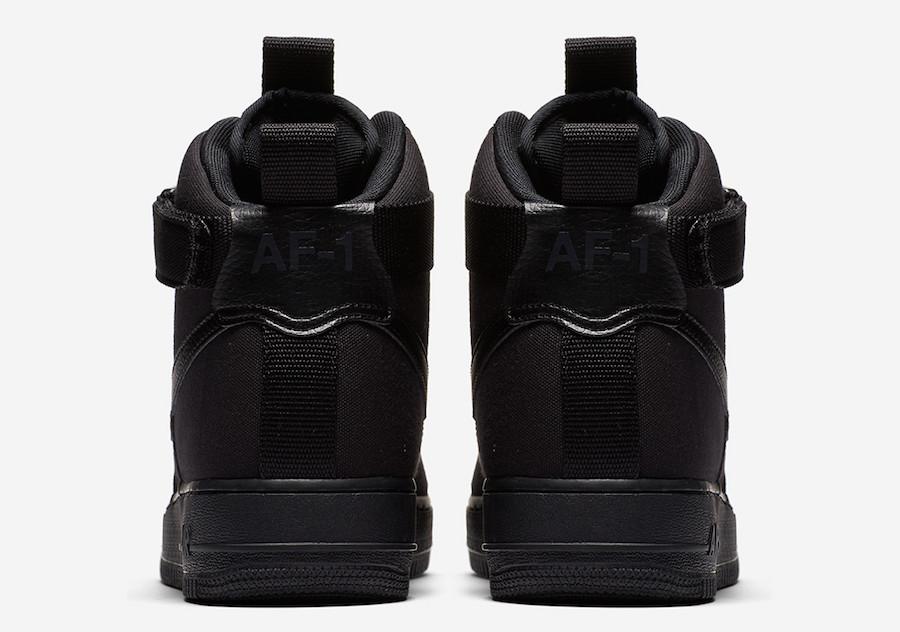 Nike Air Force 1 High Canvas Triple Black AH6768-001