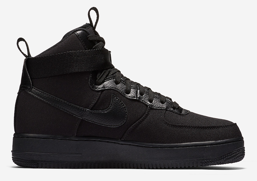 Canvas Black Ah6768 Triple Nike 001Sneakerfiles Force Air 1 High cKlF1JT
