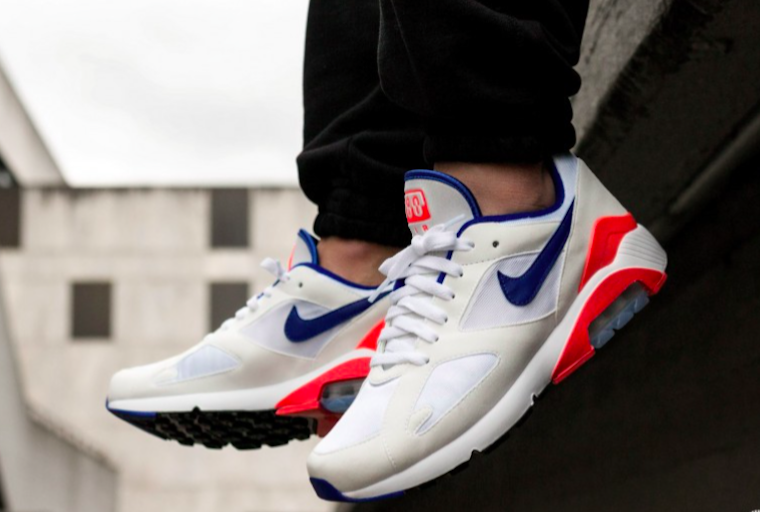 air max 180 on feet