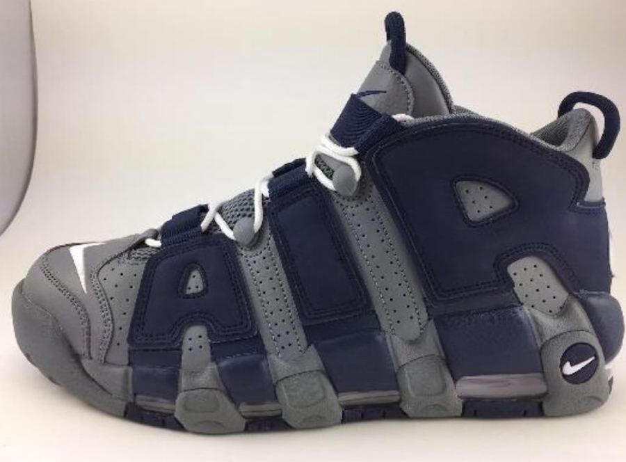 new arrival 120f1 532a6 Nike Air More Uptempo Hoyas Cool Grey White Midnight Navy 921948-003