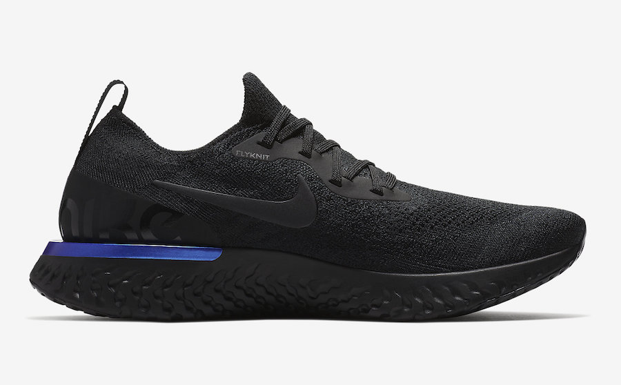 Nike Epic React Flyknit Black Racer Blue AQ0067-004