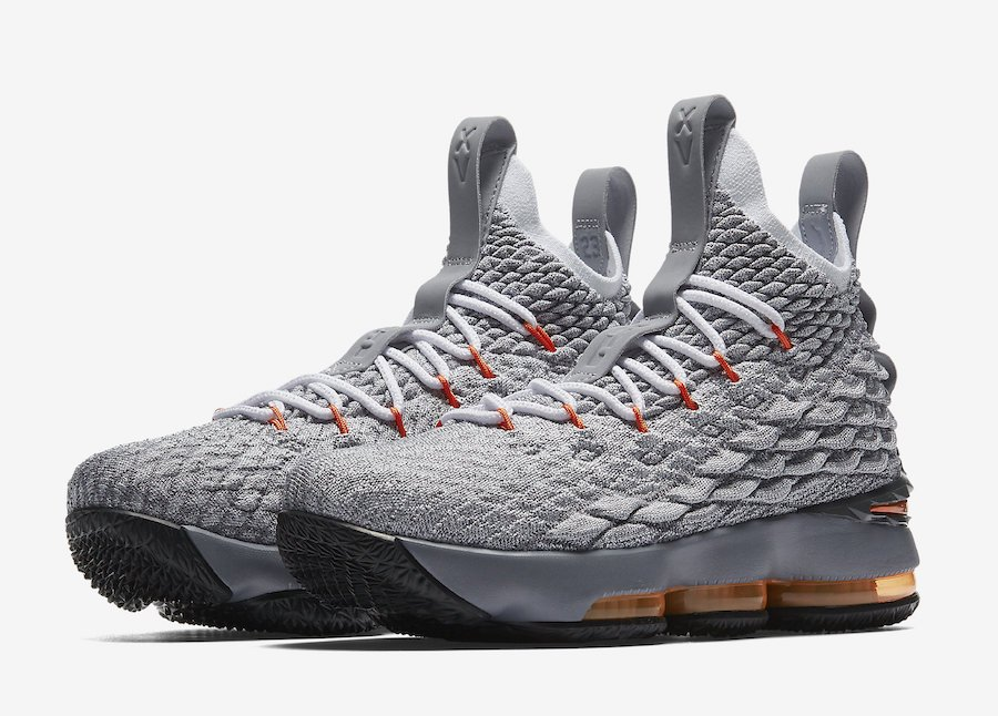 Nike LeBron 15 Safety Orange Grey 922811-080