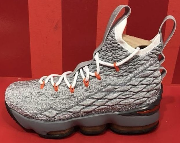 Nike LeBron 15 Wolf Grey Safety Orange