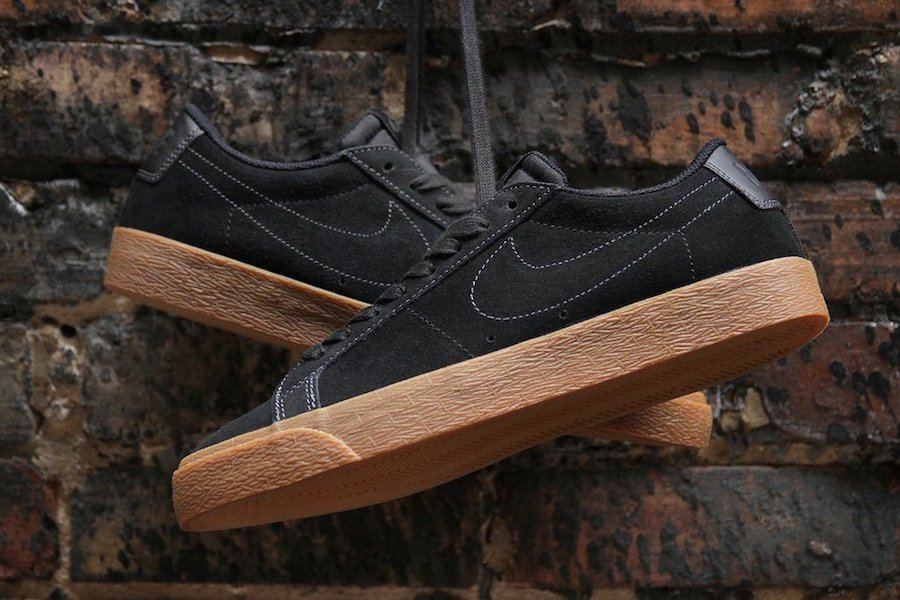 Nike SB Blazer Low Black Gum 864347-002