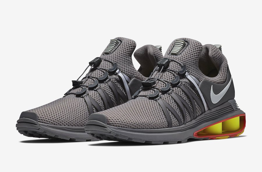 Nike Shox Gravity Grey Yellow Orange AQ8553-006