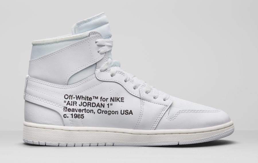 OFF-WHITE Air Jordan 1 AQ0818-100 Release Details