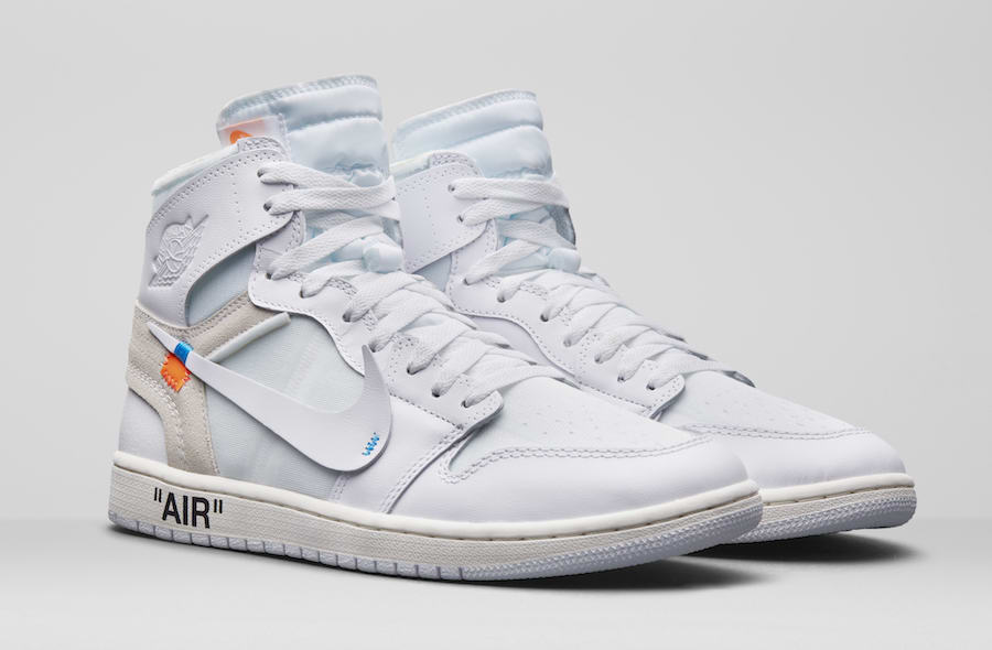 super popular 5f1a5 e65a8 OFF-WHITE Air Jordan 1 AQ0818-100 Release Details