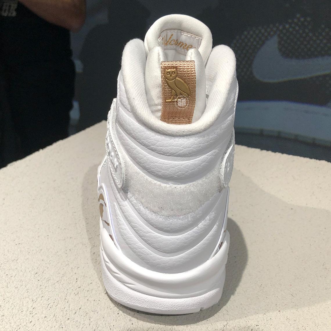 OVO Air Jordan 8 Retro White Release Details