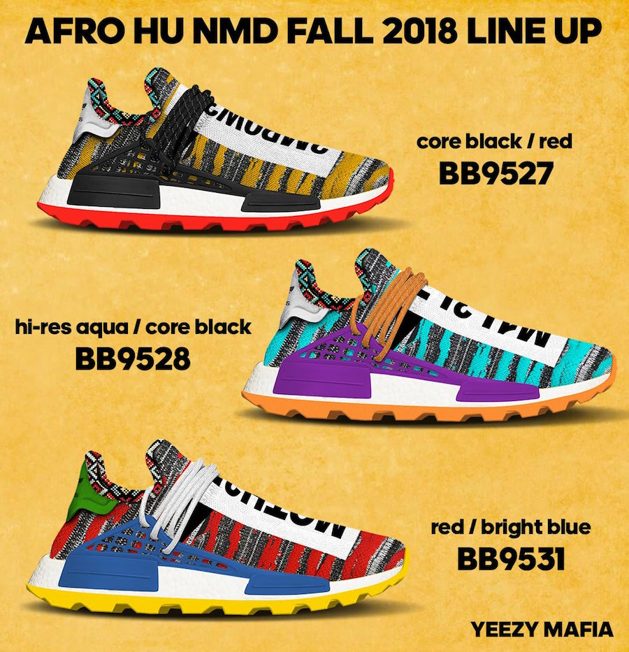 Pharrell Adidas Afro Nmd Hu Release Date Sneakerfiles