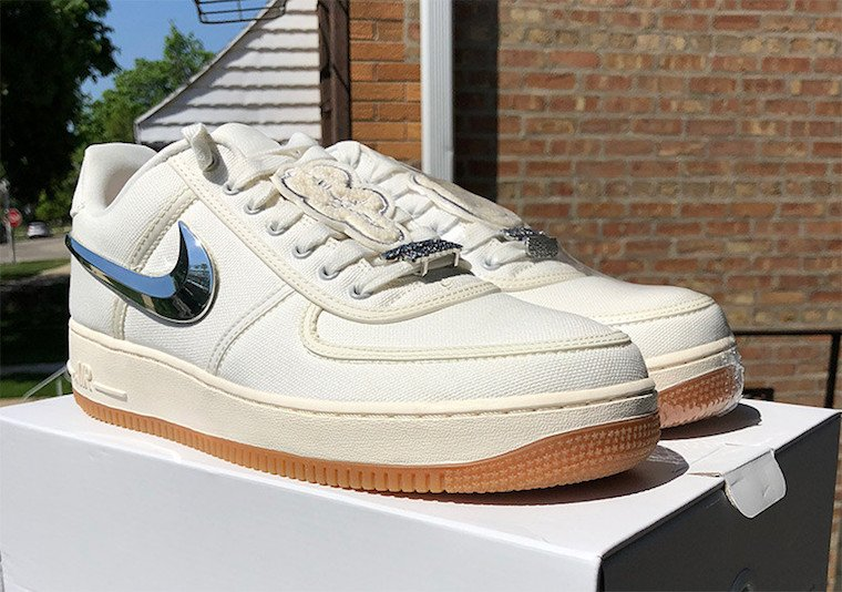 e7d962460b701c Travis Scott Nike Air Force 1 Low Sail AQ4211-101
