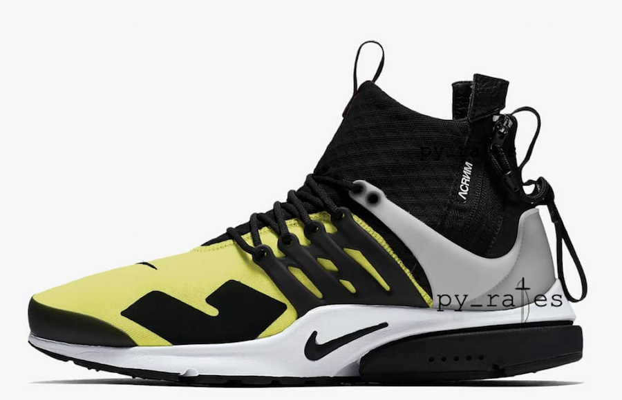 best authentic c3f6e bf8b7 Acronym Nike Air Presto Mid Dynamic Yellow Release Date