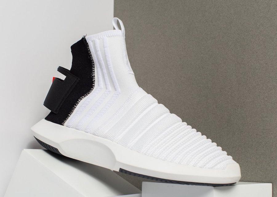 buy popular c7e2d 5e307 adidas crazy 1 adv sock white black