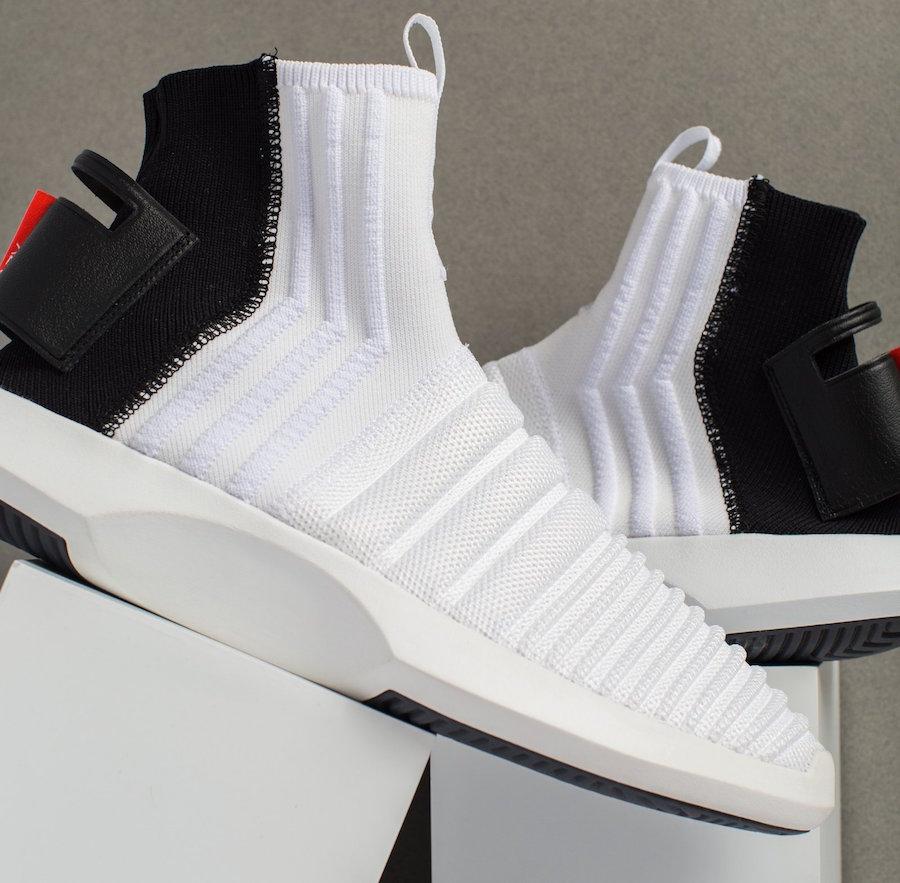adidas Crazy 1 ADV Sock Primeknit Black Heel