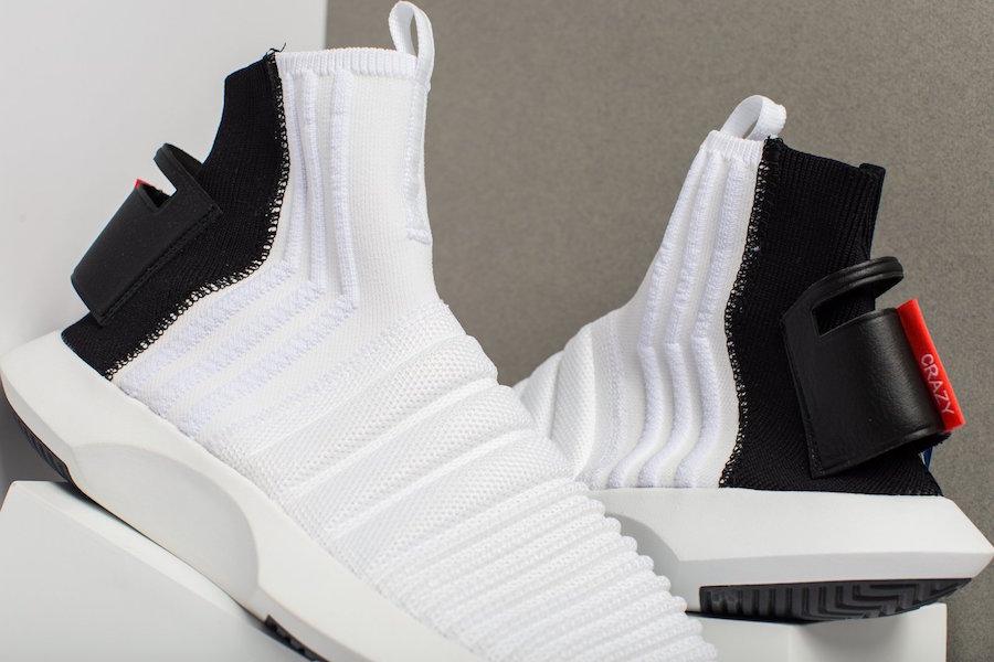premium selection 53e4d bba06 adidas Crazy 1 ADV Sock Primeknit Black Heel
