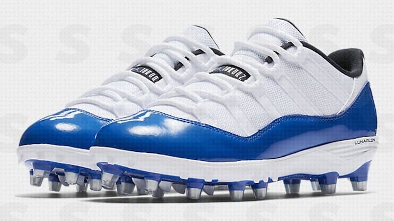 Air Jordan 11 Low Cleats Blue White