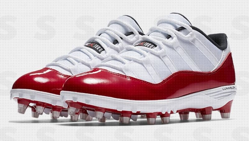 Air Jordan 11 Low Cleats Red White