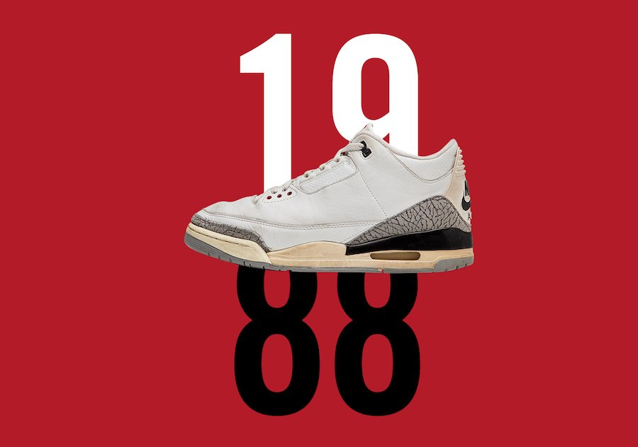 reputable site c2e80 aca7b Air Jordan 3 White Cement Free Throw Line 30th Anniversary
