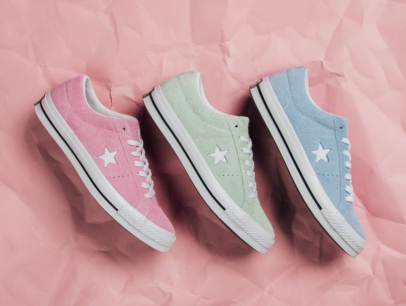 3739f842d02 Converse One Star Low Cotton Candy Pack
