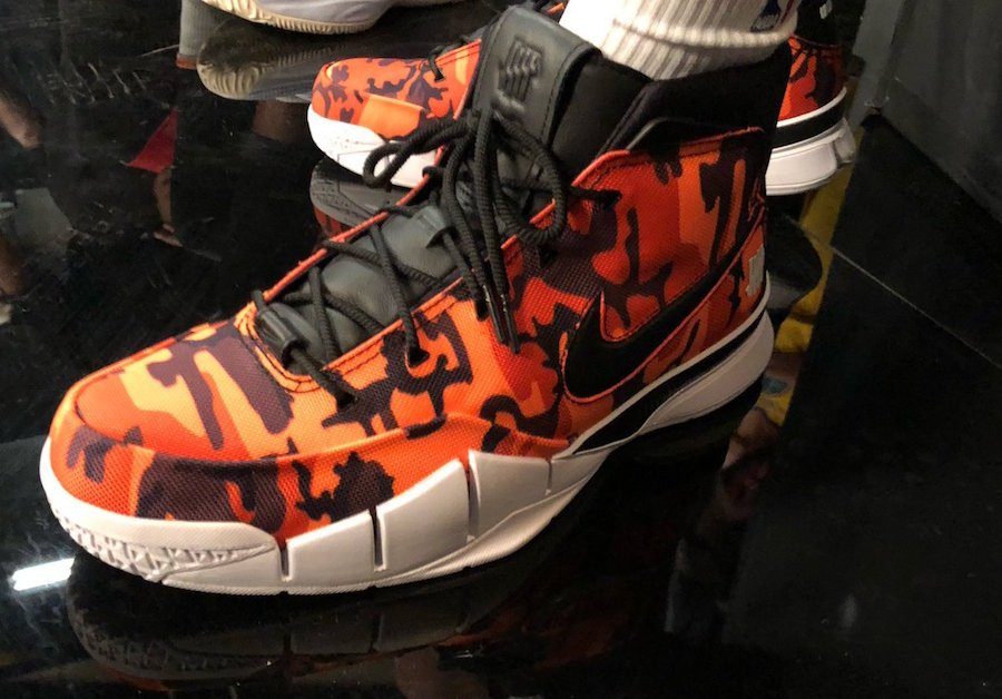 reputable site b4b44 091ad Devin Booker Undefeated Nike Zoom Kobe 1 Protro Red Camo