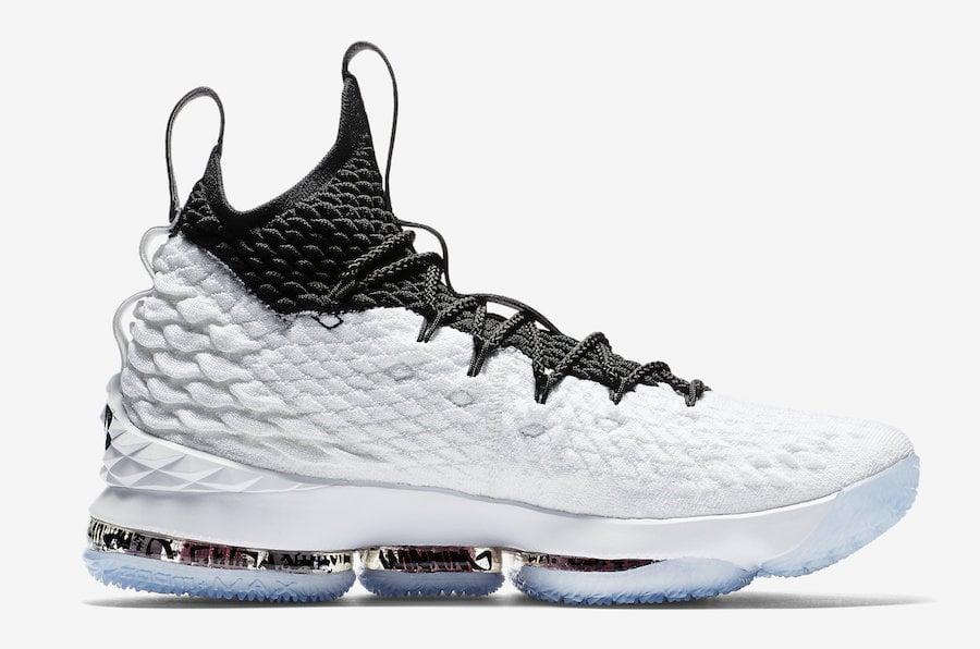 Graffiti Nike LeBron 15 White Black