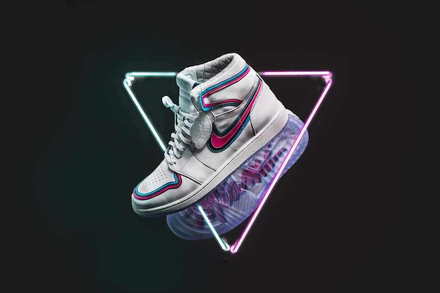 Miami Heat The Shoe Surgeon Air Jordan 1 Miami Vice Custom