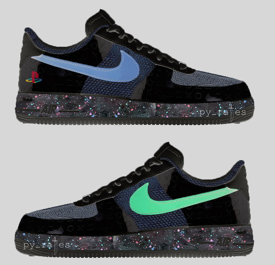 82eeb497b336e Nike Air Force 1 PlayStation BQ3634-001 2018