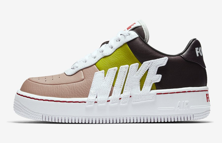 Nike Air Force 1 Upstep LX Port Wine Bright Cactus 898421-602 Force is Female