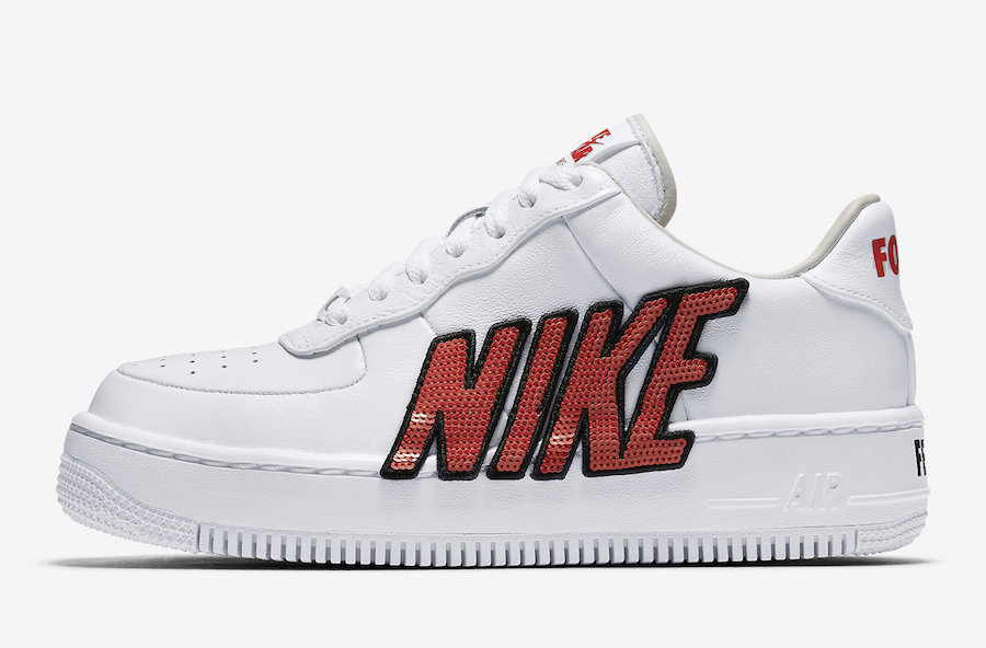 Nike Air Force 1 Upstep LX White Habanero Red 898421-101 Force is Female