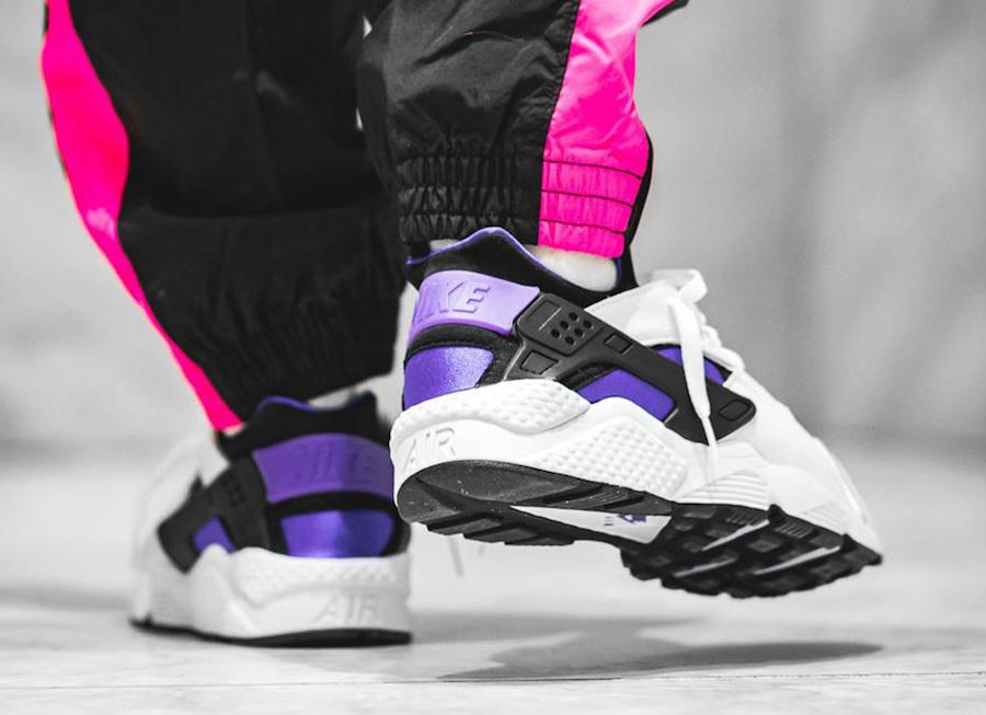 Nike Air Huarache 91 Purple Punch On Feet