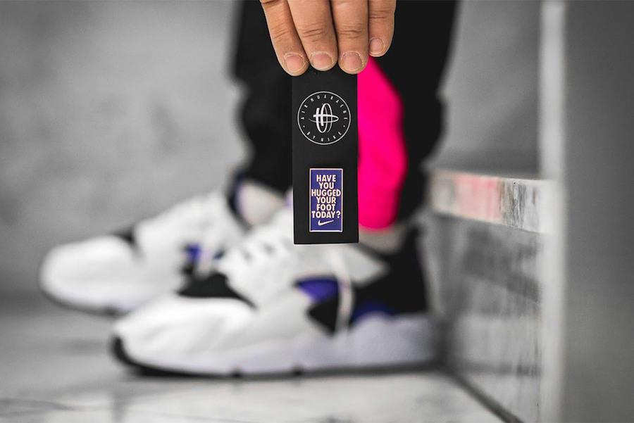 Nike Aire Huarache Blanco Negro Púrpura Leafly Punzón mLl6FeB