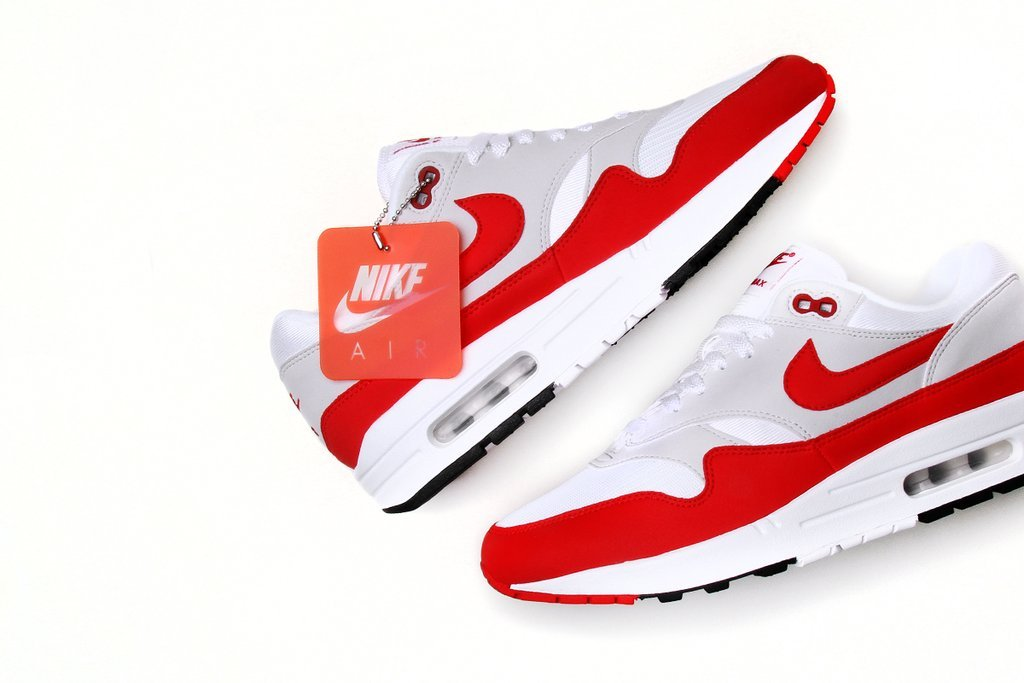 online store 00928 ee63c Nike Air Max 1 OG Anniversary University Red 2018