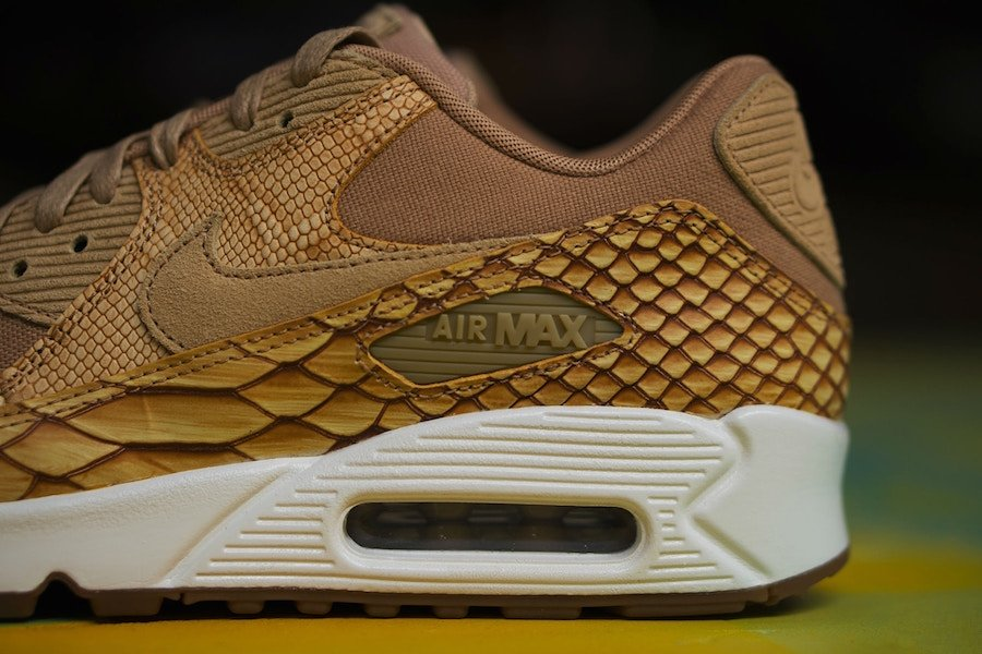 Nike Air Max 90 Premium Snakeskin Tan Gold AH8046-200