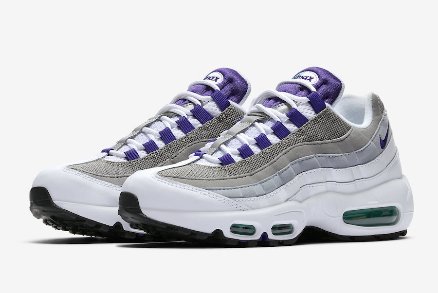 the best attitude 471ca 93bcf Nike Air Max 95 Grape 307960-109 2018 Release Info ...