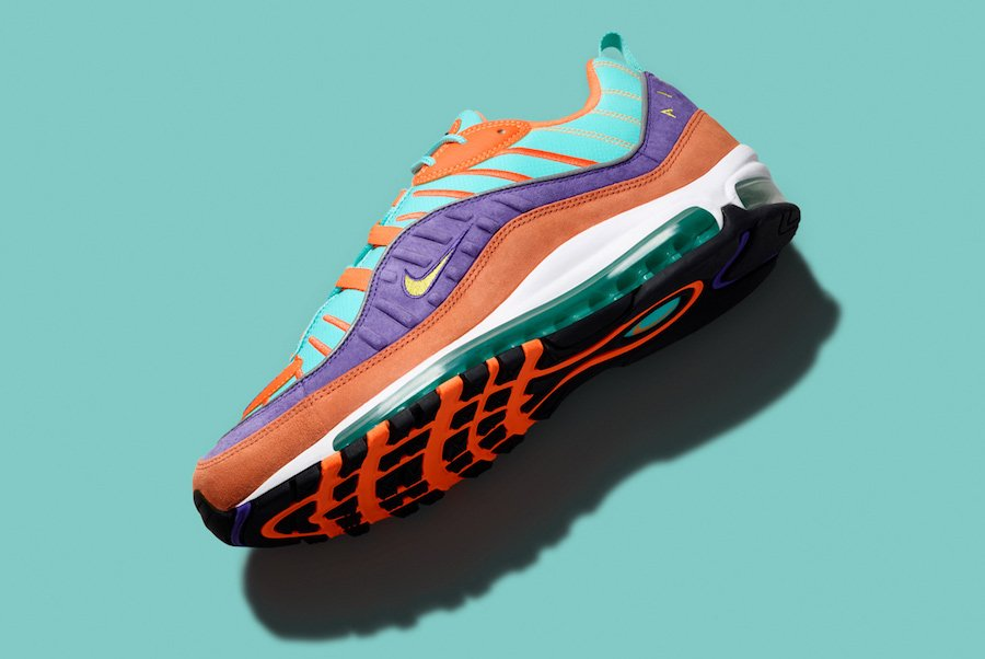 Nike Air Max 98 Cone Tour Yellow Hyper Grape 924462-800  5eba89570a