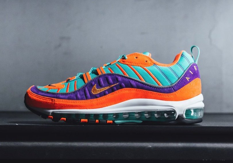 Nike Air Max 98 Cone Tour Yellow Hyper Grape 924462-800