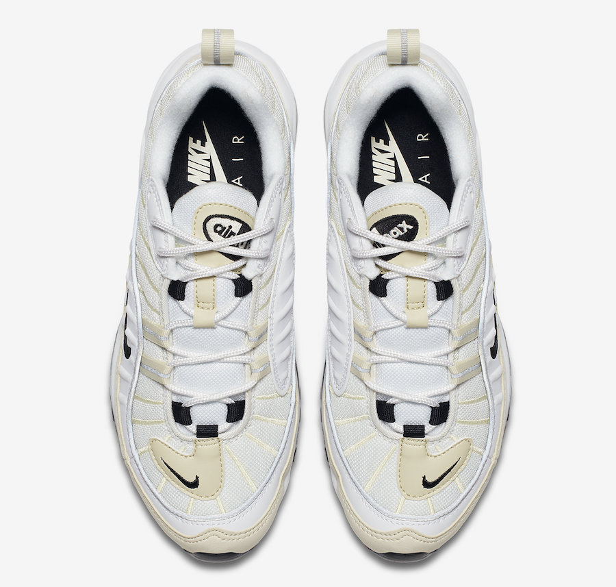 Nike Air Max 98 Sail White Black Metallic Silver AH6799-102