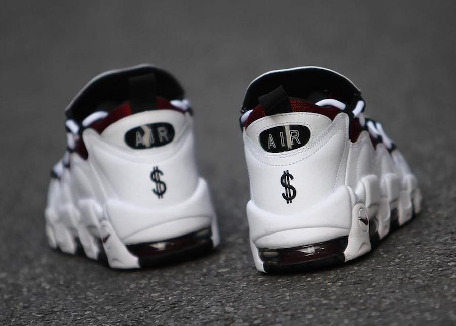 Nike Air More Money Burgundy White Black