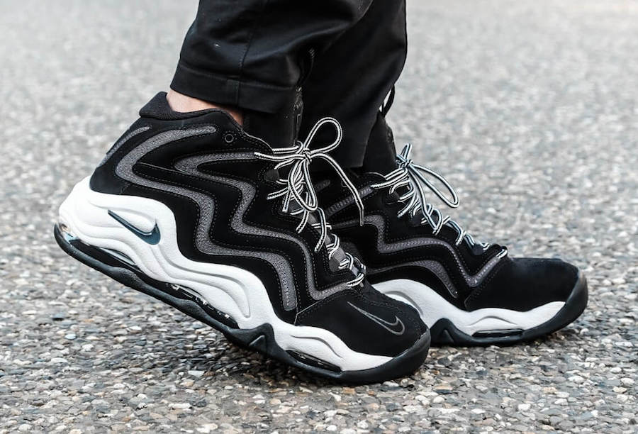 Nike Air Pippen 1 Black Anthracite Vast Grey On Feet