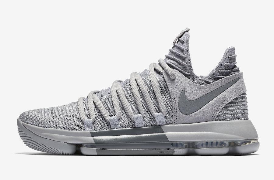 Nike KD 10 Wolf Grey Cool Grey 897815-007