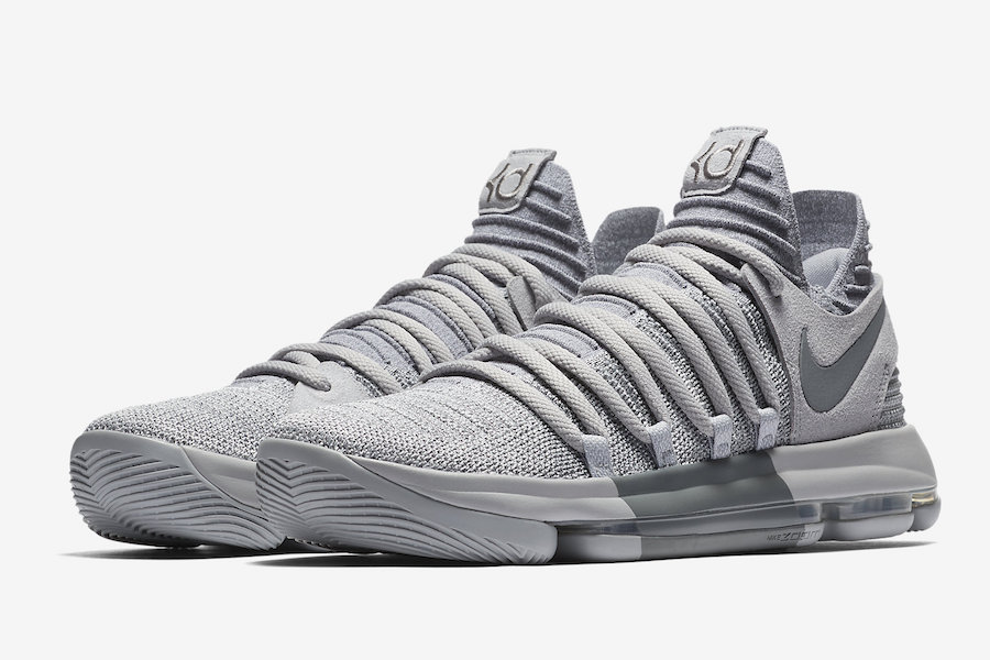new arrival e5d40 ccc14 Nike KD 10 Wolf Grey Cool Grey 897815-007