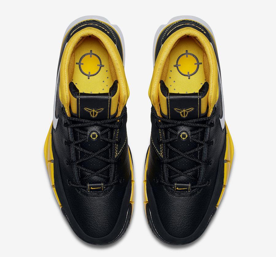 best sneakers 249c6 17061 Nike Kobe 1 Protro AQ2728-003 Black White Varsity Maize