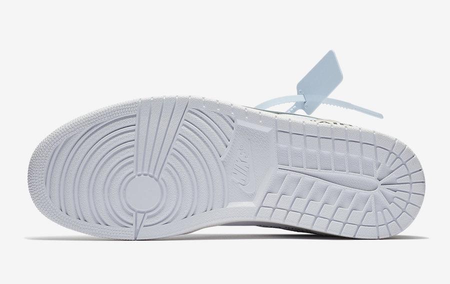 Off-White Air Jordan 1 AQ0818-100 Store Listings