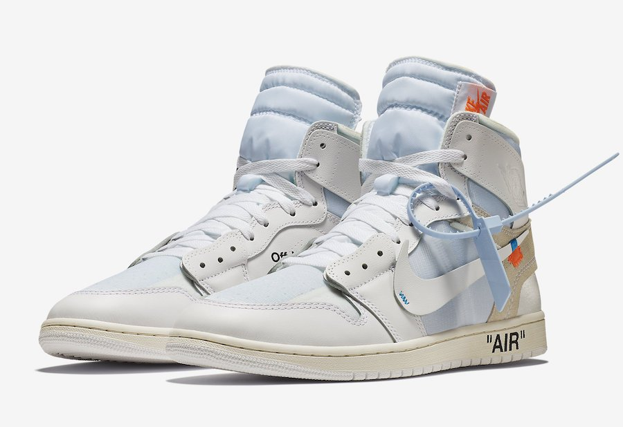 9b8636a73541 Where to Buy the Off-White Air Jordan 1 AQ0818-100
