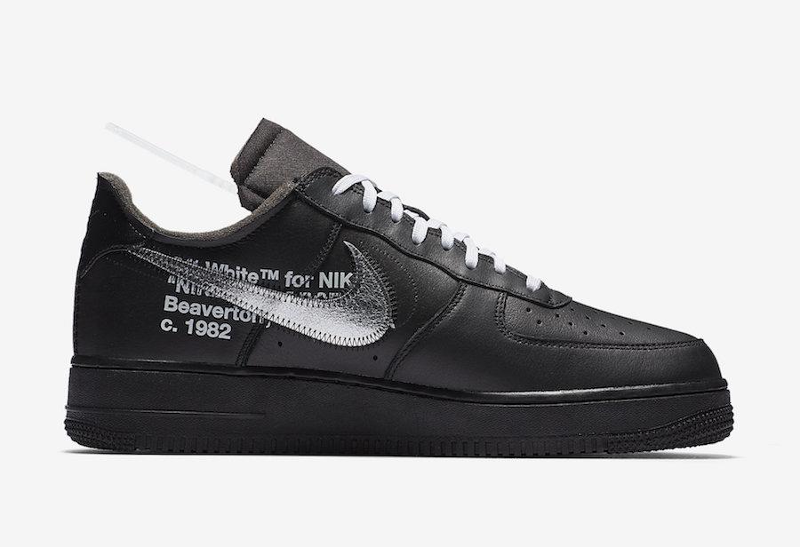 Off-White Nike Air Force 1 Low Black AV5210-001 Release Date Info