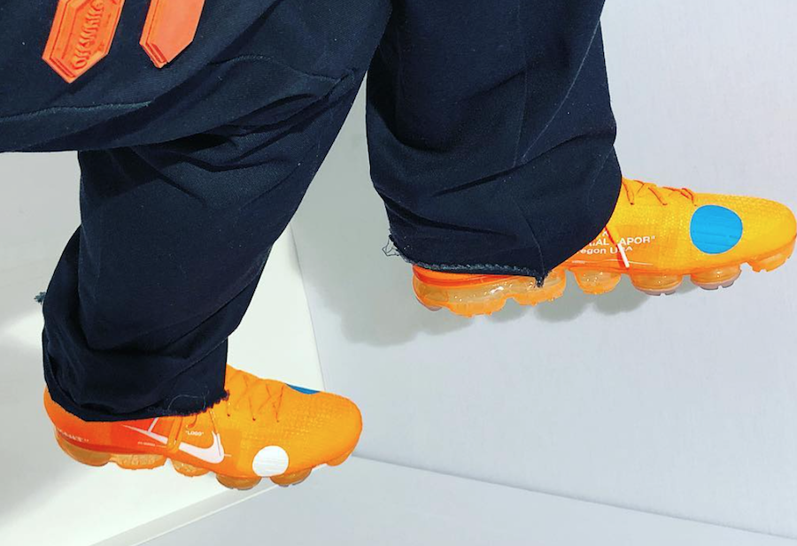 Orange Off-White Nike Air VaporMax