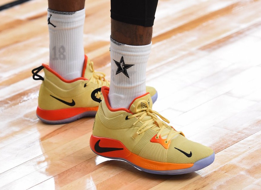 Paul George Nike PG 2 Yellow Orange All-Star PE