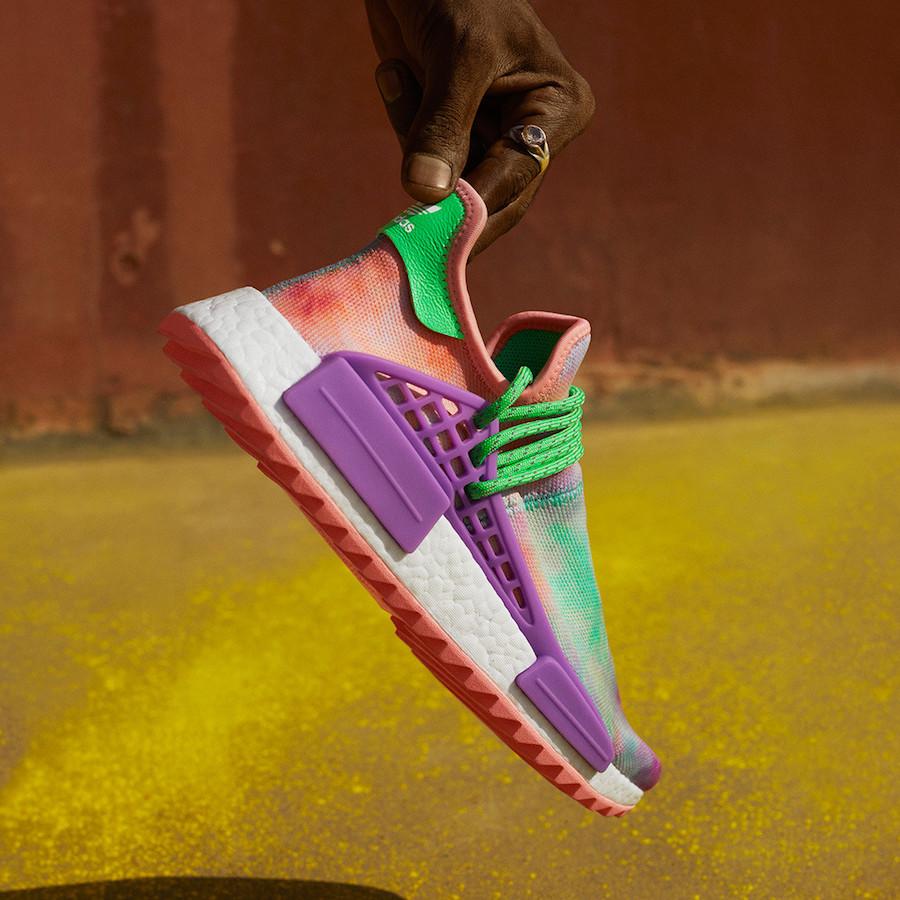 Pharrell adidas Hu Holi Powder Dye Release Date